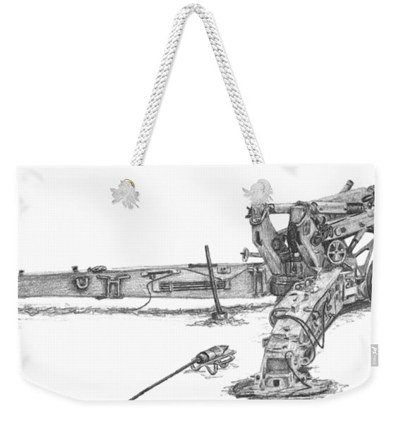 M198 Howitzer - Natural Sized Prints Weekender Tote Bag