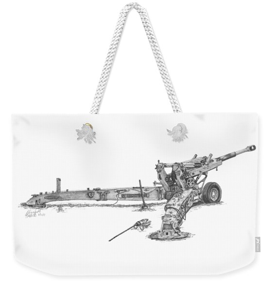 M198 Howitzer - Natural Sized Prints Weekender Tote Bag