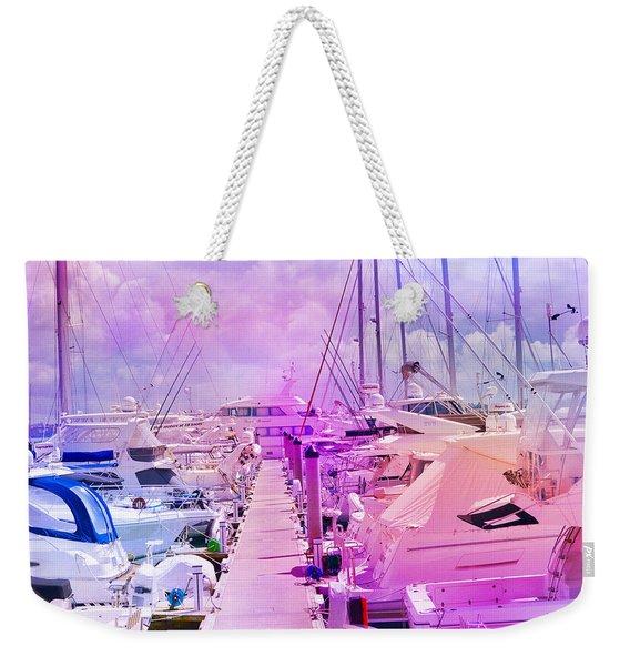 Marina In The Morning Glow Weekender Tote Bag