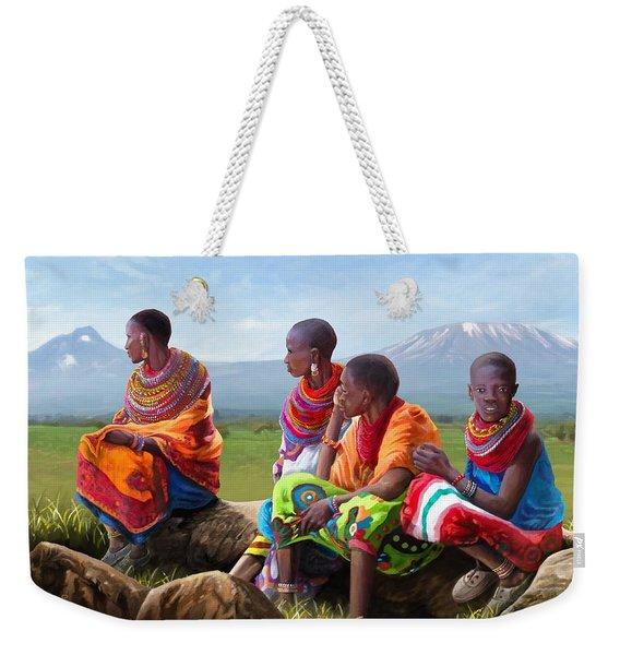 Samburu In Maasai Land Weekender Tote Bag