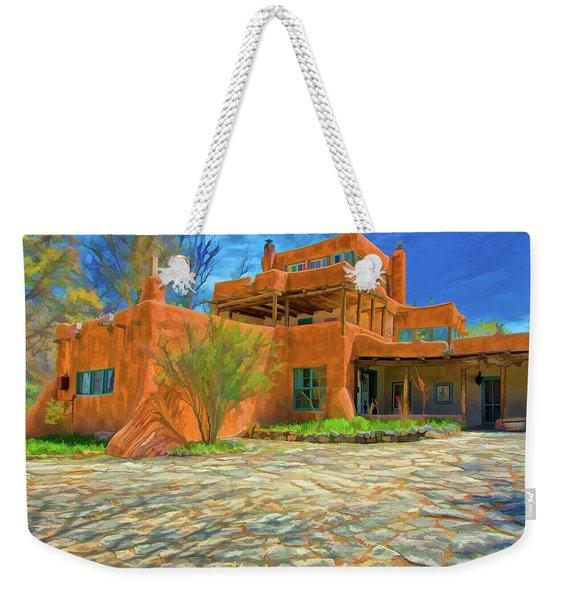Mabel Dodge Luhan House As Oil Weekender Tote Bag