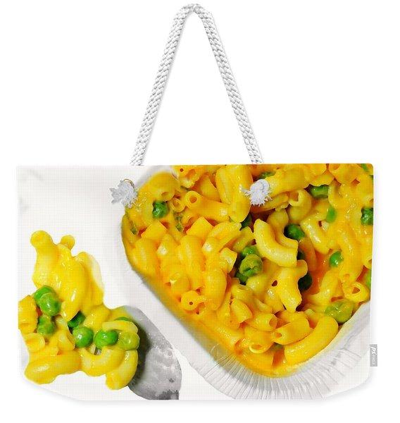 Mac Cheese And Peas Weekender Tote Bag