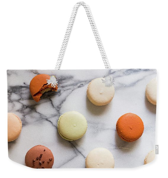 Macaron Pattern Weekender Tote Bag