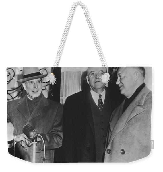 Macarthur, Dulles, Eisenhower Weekender Tote Bag