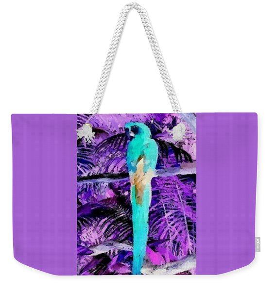 Weekender Tote Bag featuring the mixed media Macaw Fantasy by Writermore Arts