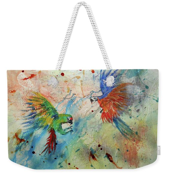 Macaws In Flight Weekender Tote Bag