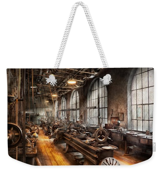 Machinist - A Room Full Of Lathes  Weekender Tote Bag