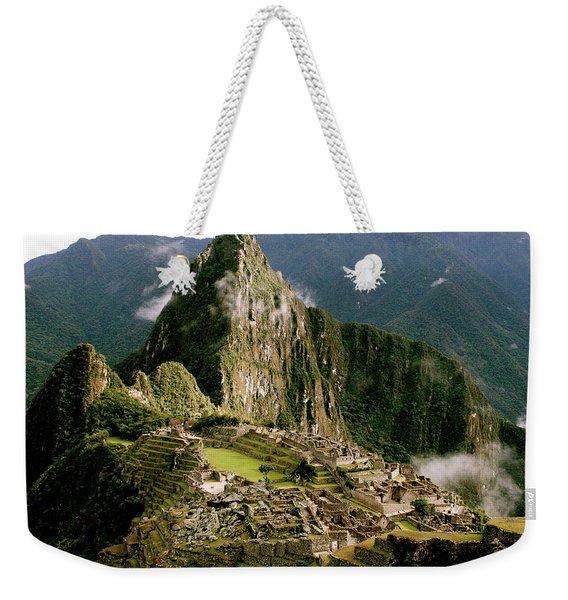 Machu Picchu At Sunrise Weekender Tote Bag