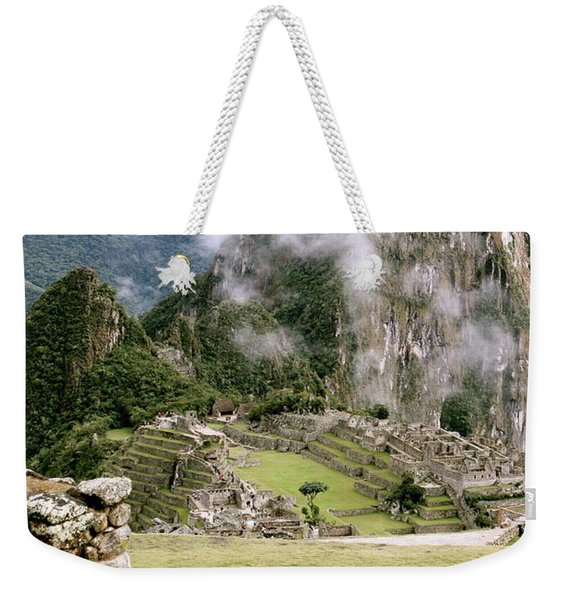 Machu Picchu In The Morning Light Weekender Tote Bag