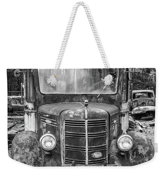 Mack Truck In A Junkyard Weekender Tote Bag