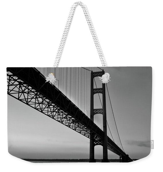 Mackinac Bridge At Sunset Weekender Tote Bag