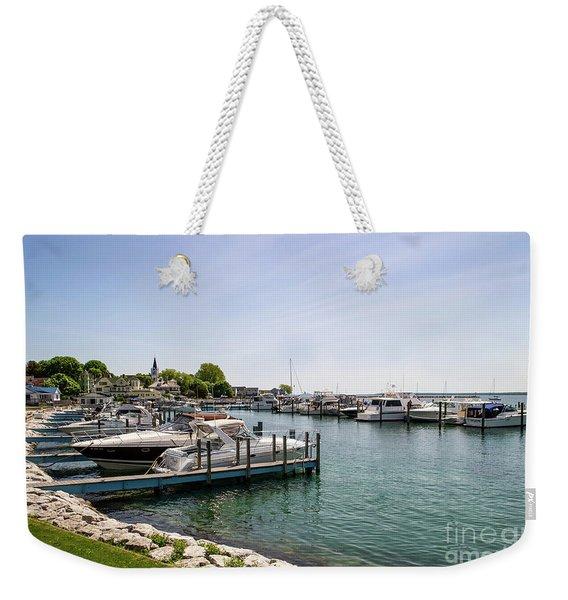 Mackinac Island Marina Weekender Tote Bag