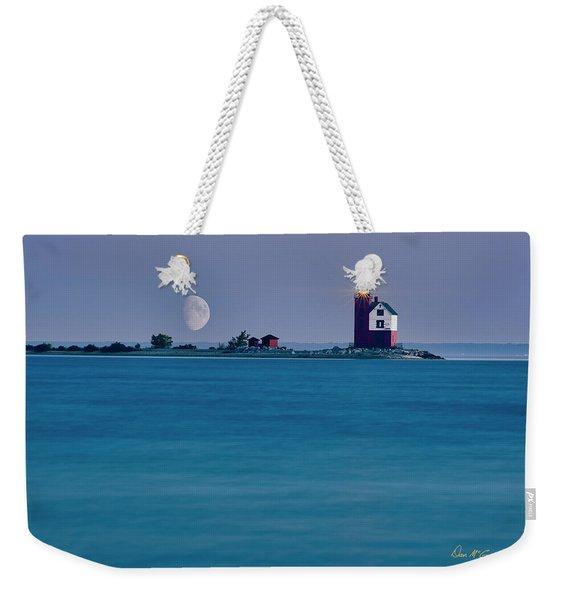 Mackinac Moon Weekender Tote Bag