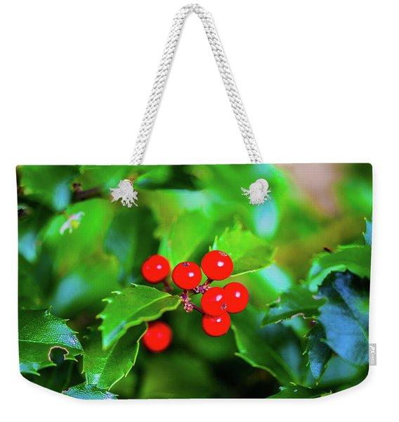 Macro Berries - 1202 Weekender Tote Bag
