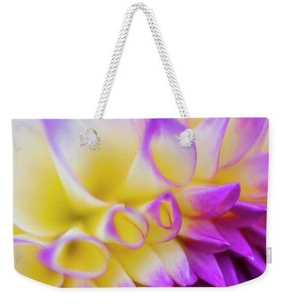 Macro Dahlia Weekender Tote Bag