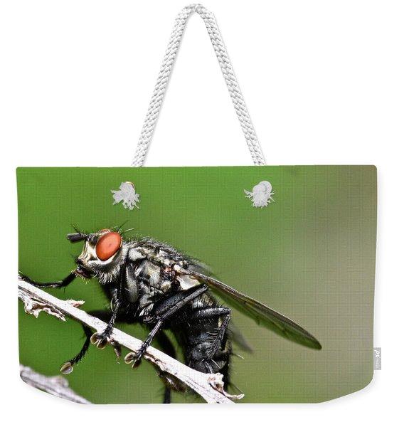 Macro Fly Weekender Tote Bag