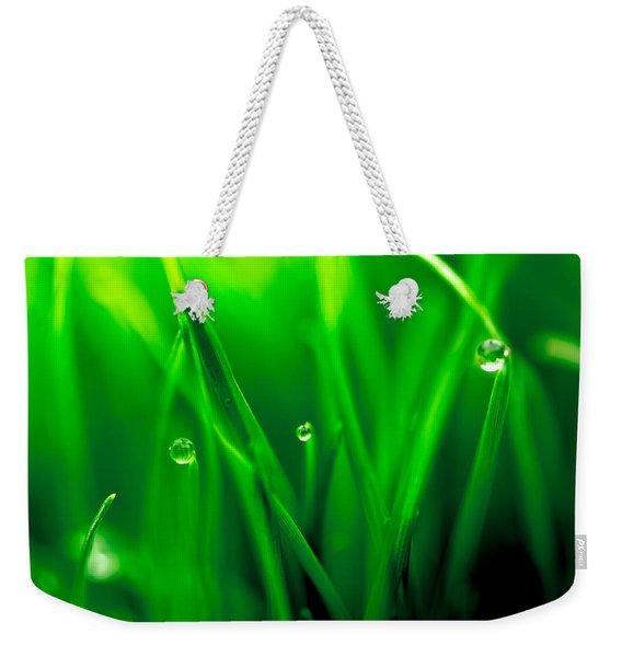 Macro Image Of Fresh Green Grass Weekender Tote Bag