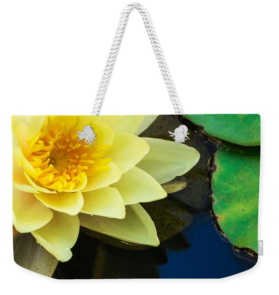 Macro Image Of Yellow Water Lilly Weekender Tote Bag