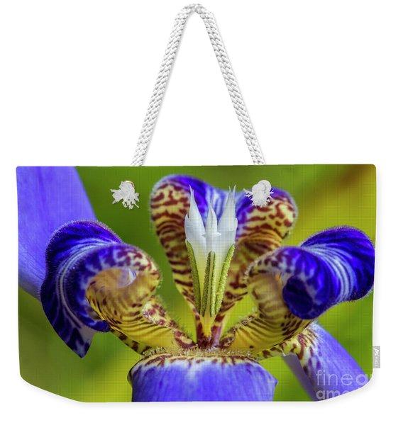 Macro Of Iris Flower Weekender Tote Bag