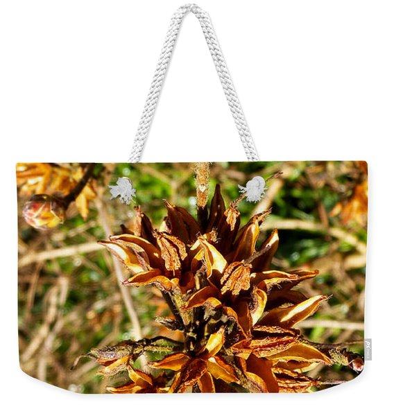 Macro Red Flower Weekender Tote Bag