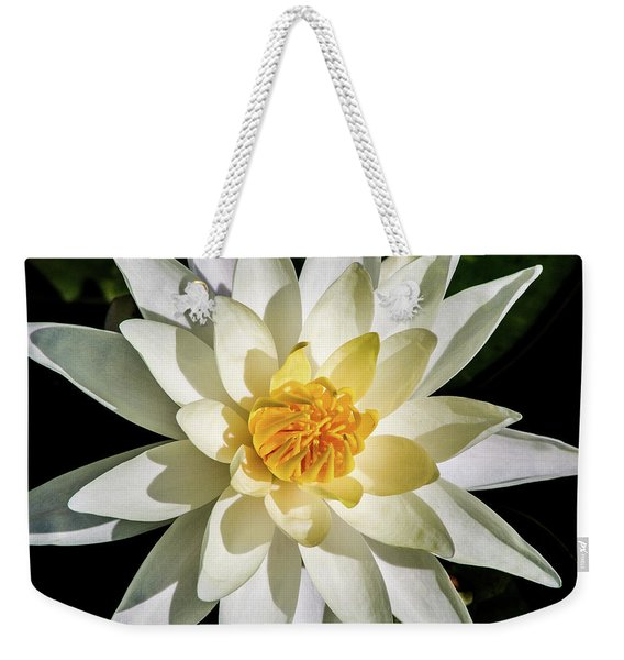Macro Water Lily Weekender Tote Bag