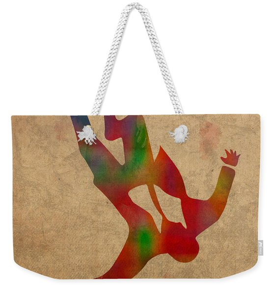 Mad Men Watercolor Silhouette Painting On Worn Parchment No 2 Weekender Tote Bag
