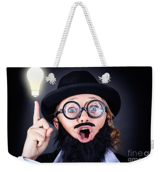 Mad Professor With Light Bulb Breakthrough Weekender Tote Bag