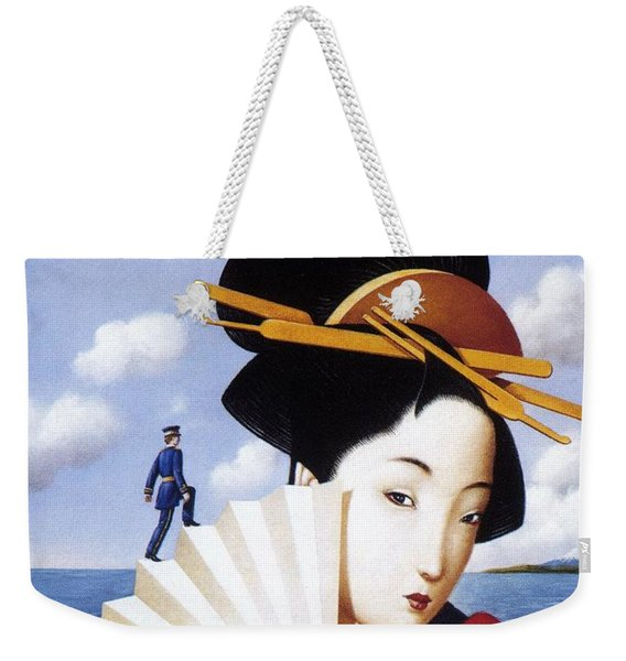 Madam Butterfly Puccini - Japanese Kimono - Vintage Advertising Poster Weekender Tote Bag