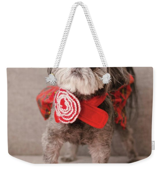 Madam Scarlett In All Red Weekender Tote Bag