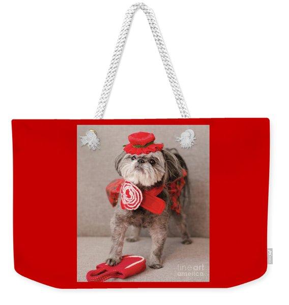 Madam Scarlett In All Red Weekender Tote Bag