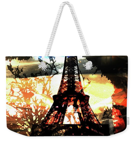 Paris Madame Eiffel Weekender Tote Bag