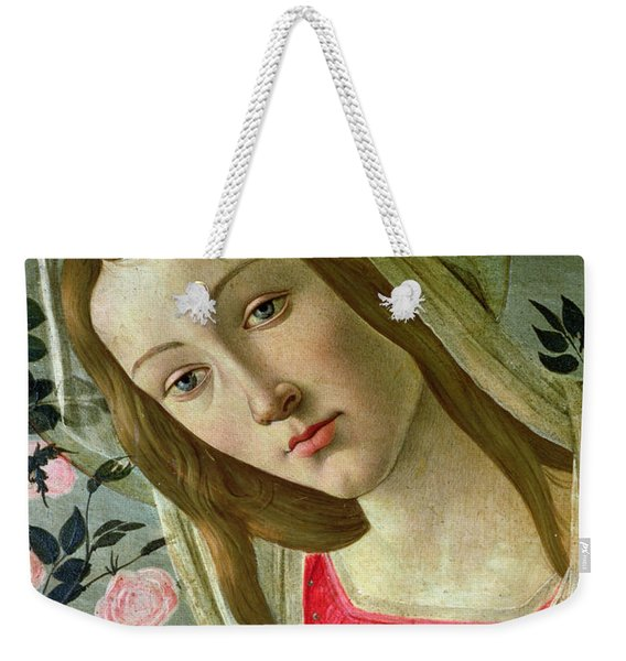 Madonna And Child Crowned By Angels Weekender Tote Bag