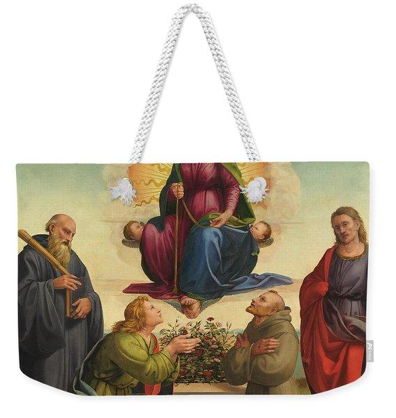 Madonna Delle Cintola Weekender Tote Bag