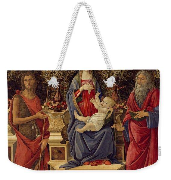 Madonna With Saints Weekender Tote Bag
