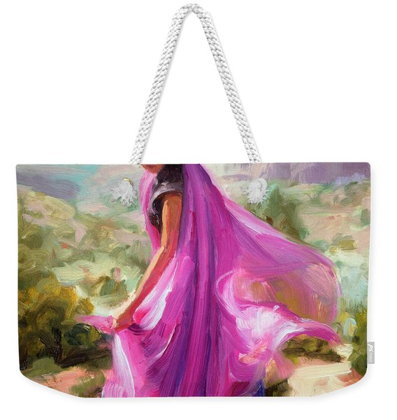 Magenta In Zion Weekender Tote Bag