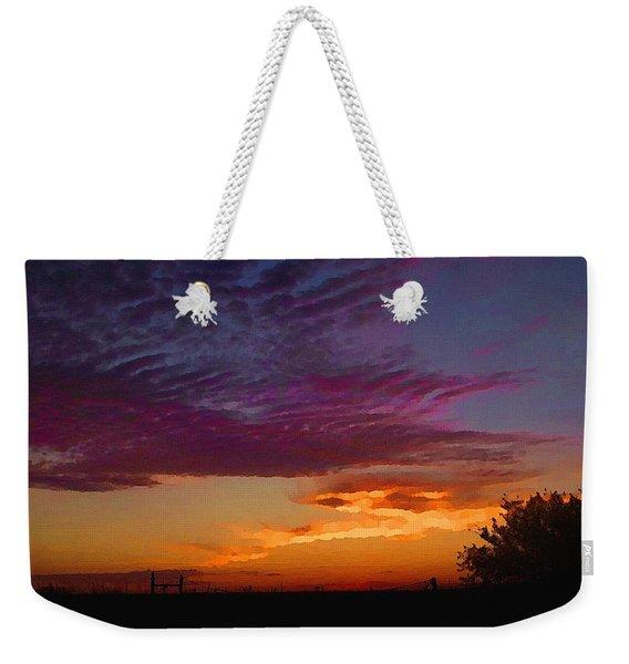 Magenta Morning Sky Weekender Tote Bag