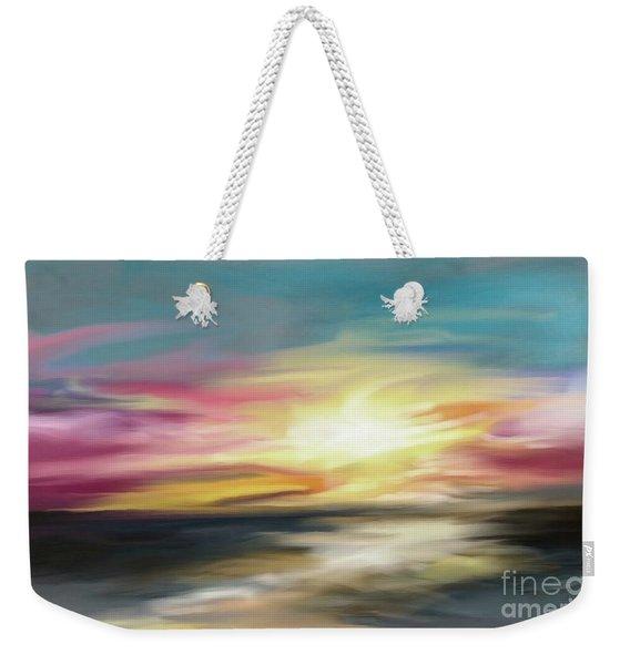 Magenta Sea Weekender Tote Bag