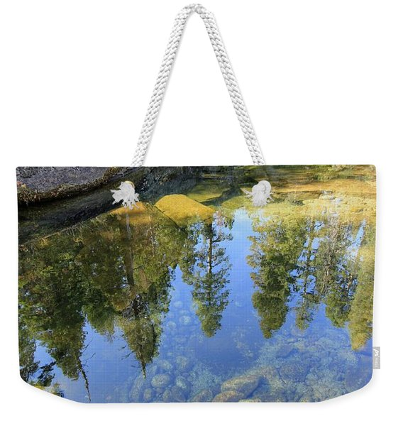 Magic Light On Big Silver Weekender Tote Bag