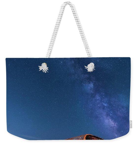 Magic Milky Way Bus Weekender Tote Bag