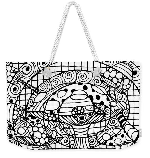 Magic Mushroom Tangle Weekender Tote Bag