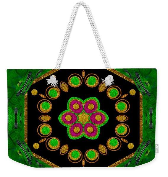 Magic Of Life A Orchid Mandala So Bright Weekender Tote Bag