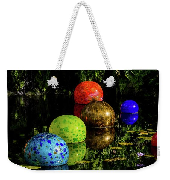 Weekender Tote Bag featuring the photograph Magical Circles by Robin Zygelman