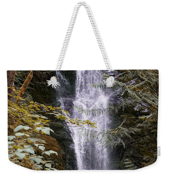 Weekender Tote Bag featuring the photograph Magical Falls Quinault Rain Forest by Michael Hope