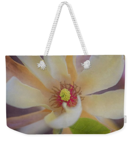 Weekender Tote Bag featuring the photograph Magnolia Blossom by Tom Singleton