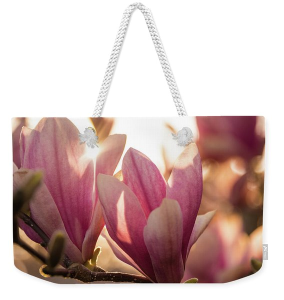 Magnolias At Sunset Weekender Tote Bag