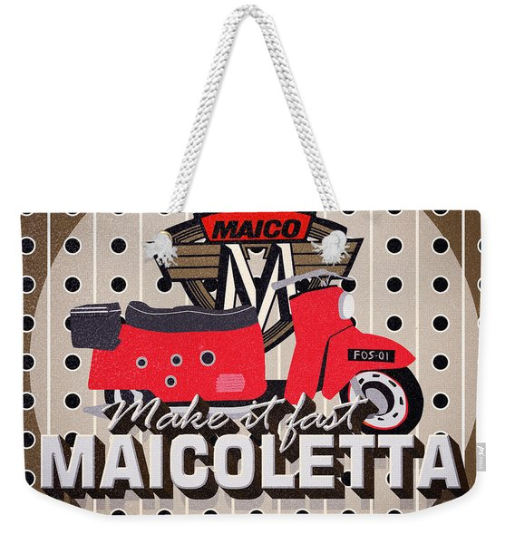 Maicoletta Scooter Advertising Weekender Tote Bag