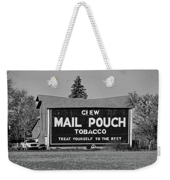 Mail Pouch Tobacco In Black And White Weekender Tote Bag