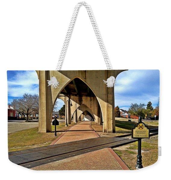 Main Street Bridge Railroad Crossing Weekender Tote Bag