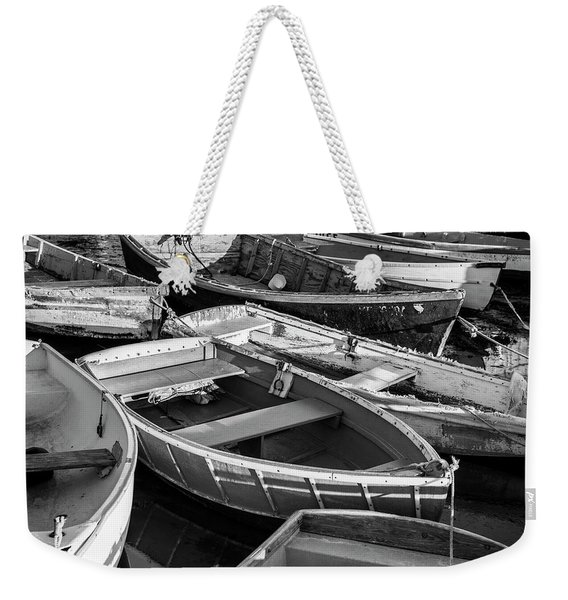 Weekender Tote Bag featuring the photograph Maine Boats by Ranjay Mitra
