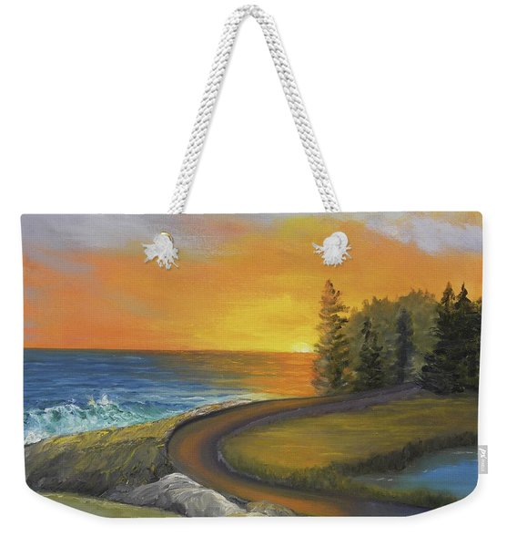 Maine Ocean Sunrise Weekender Tote Bag